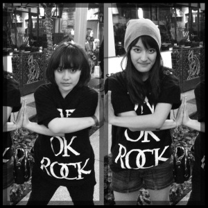 After ONE OK ROCK LIVE in LA. Shirts pre-ordered from Sidestep. Thank goodness for that!