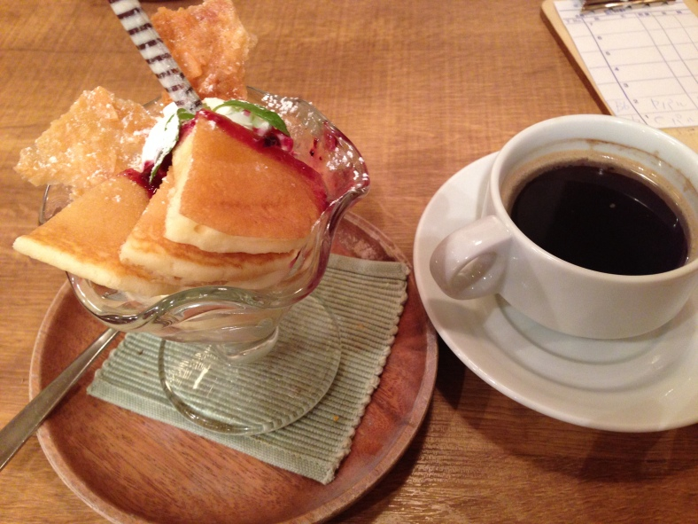 Pancake Ice cream dessert thingie with unlimited coffee (lol)