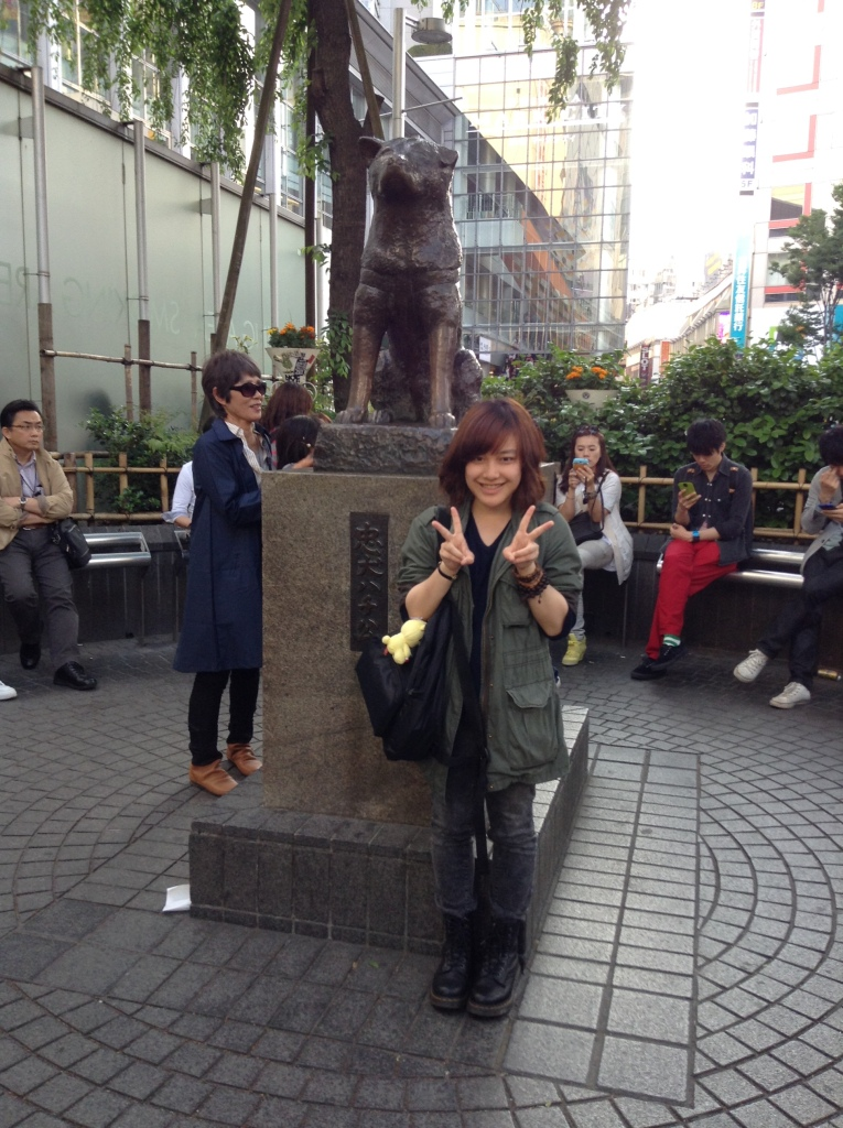 Me and the famous Hachi in Shibuya