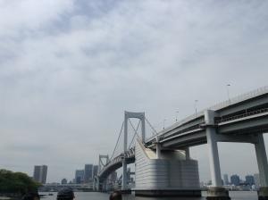 Tokyo Rainbow Bridge. View from the ferry.