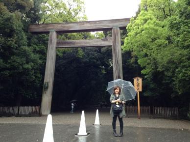 At the main shrine of Atsuta Jingu