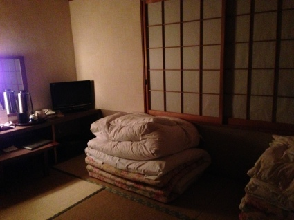 Traditional Tatami Room at Meiryuu Ryokan in Nagoya