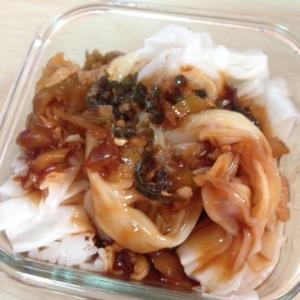 Breakfast: Lachang(?) noodles